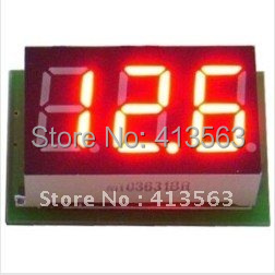 DC Mini Digital Voltmeter DC 0-100V Red LED Slim Digital Panel Meter with Ear Car Motorcycle Battery Monitor Voltmeter #00006(China (Mainland))