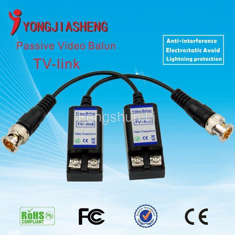 1 Channel 600M transmission Passive Video Balun UTP BNC Cat5 Transceiver(China (Mainland))
