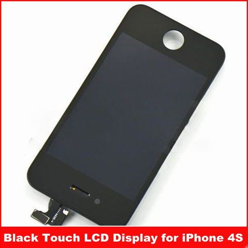 For iPhone 4S Black Touch LCD Display Screen Promotions Ex-factory price ,Free shipping