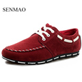New Fashion Men s Red Fashion Flats Hot Sale Male shoes Patchwork Design Lace Up Man
