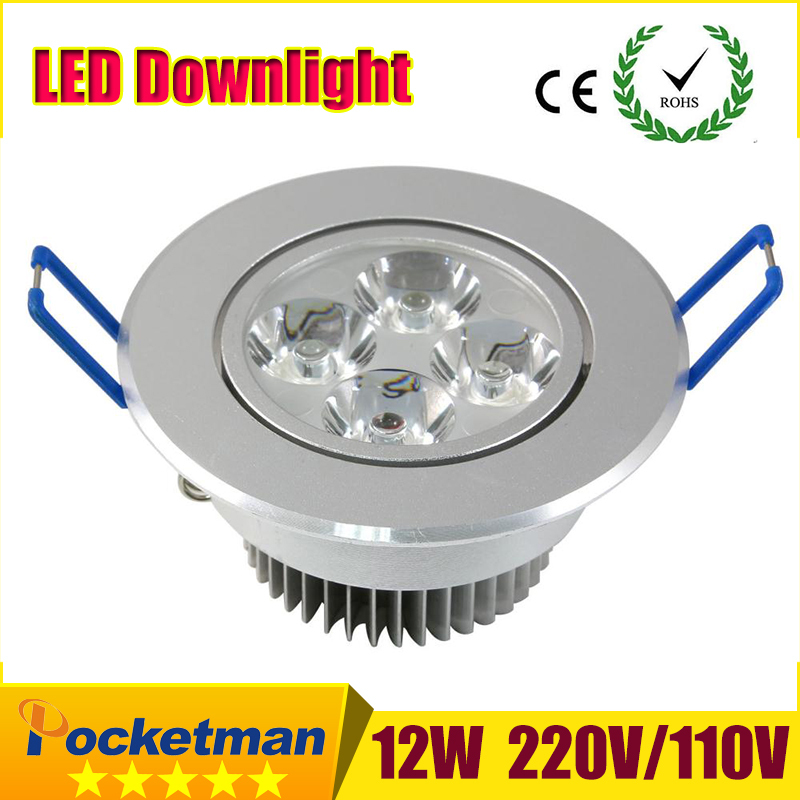 LED Spotlight 9W 12W 15W Epistar LED Recessed Cabinet Wall Spot Down light Ceiling Lamp Cold White Warm White For Home Lighting(China (Mainland))