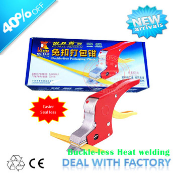 Electrical Strapping tool manual sealless bands welding tools equipment  PP straps binder buckle less carton box banding machine