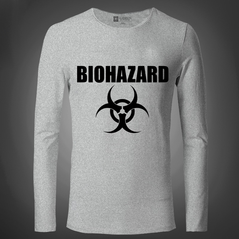 New Biohazard Movie Men T Shirts Fashion Cotton Long sleeved American Movie Anime Bottoming Tight Male T-Shirt Sport For Autumn(China (Mainland))