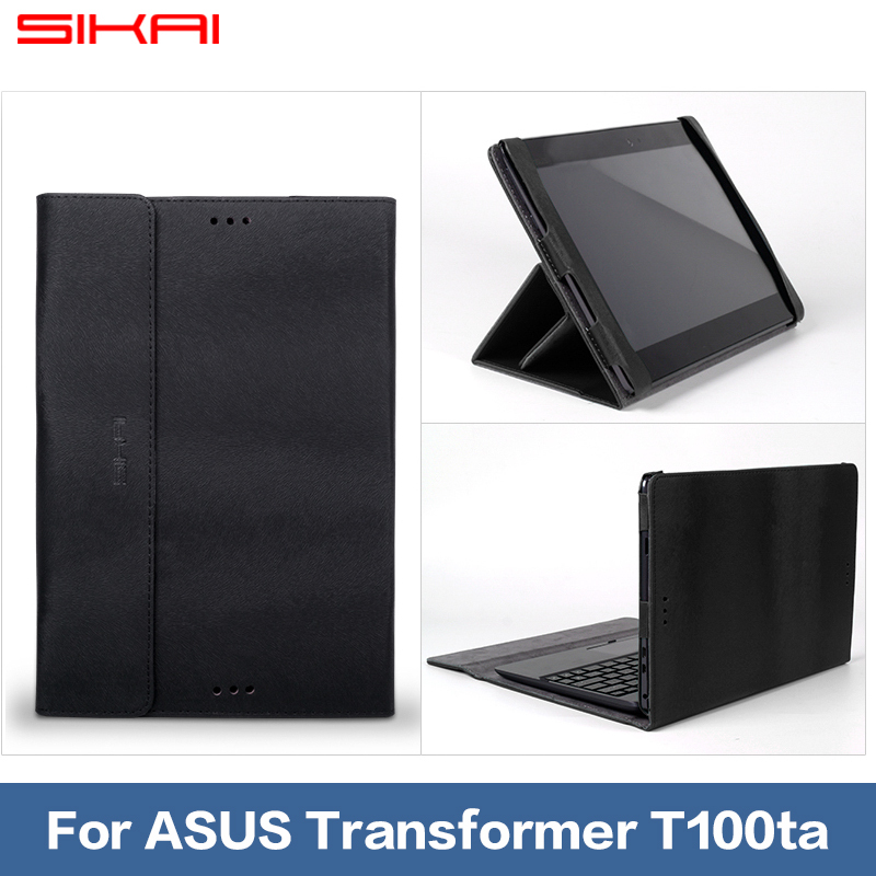 "sikai New Ultra Leather keyboard Case Cover ASUS T100 T100TA Transformer Book 10.1 inch"" Tablet PC + 10'' """