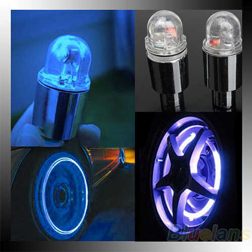 New Hot 1 Pair Motor Cycling Bike Tyre Tire Valve LED Car  Bicycle Wheel Lights 1EUM(China (Mainland))