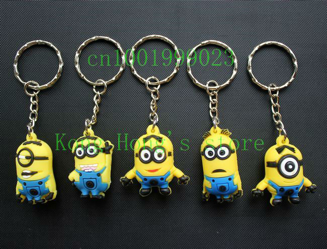 Five optional Despicable Me Mark the Minion key chain Free shipping wholesale 50pcs(China (Mainland))