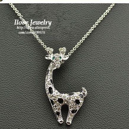 IN028 Free Shipping Wholesale Italina- Rigant Fawn Necklace, ,Necklace jewelry(China (Mainland))