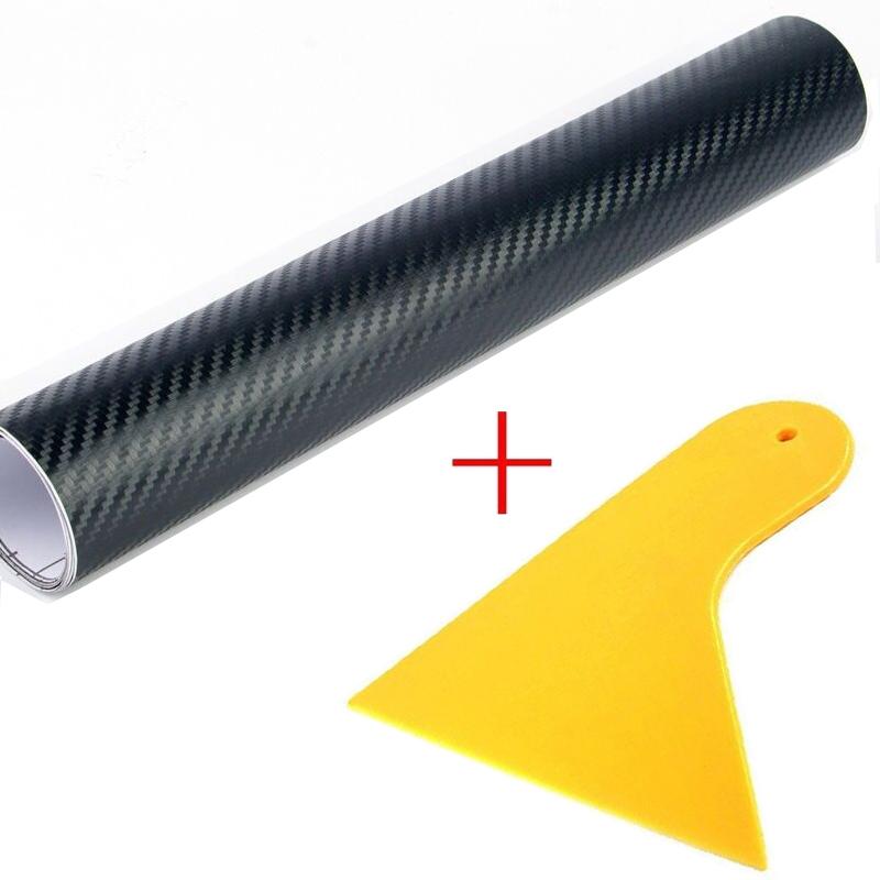 200*50CM 3D Carbon Fiber Vinyl Film Car Sticker Waterproof DIY Car Styling Wrap+Carbon Fiber Scraper Tools Auto Accessories(China (Mainland))