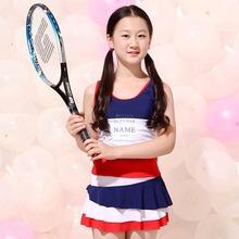 2016New Split Skirt Type Fashionable Lovely Girls Kid Swimwear Bikini Dress Swimsuit Bathing suit Beachwear Promotion(China (Mainland))