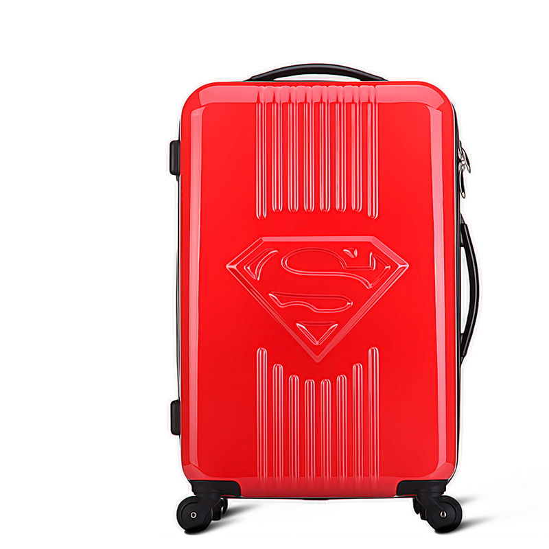 Superman Luggage Men Women Fashion Travel Suitcase Trolley Bag Universal Wheels 20 inch 24 Rolling - SHENZHEN E-Commerce Technology Co., Ltd. store
