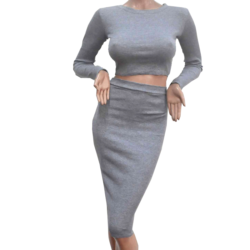 2016 Hot Sale New Spring Summer Woman Dress Large Size Long Sleeve Slim Fluid Systems Two-Piece Wool Knit Dress Sexy Fashion A55(China (Mainland))