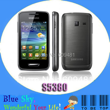 """Samsung Wave Y S5380 Original 3.2""""Capacitive touch Screen Original unlocked Refurbished phone Quad band"""