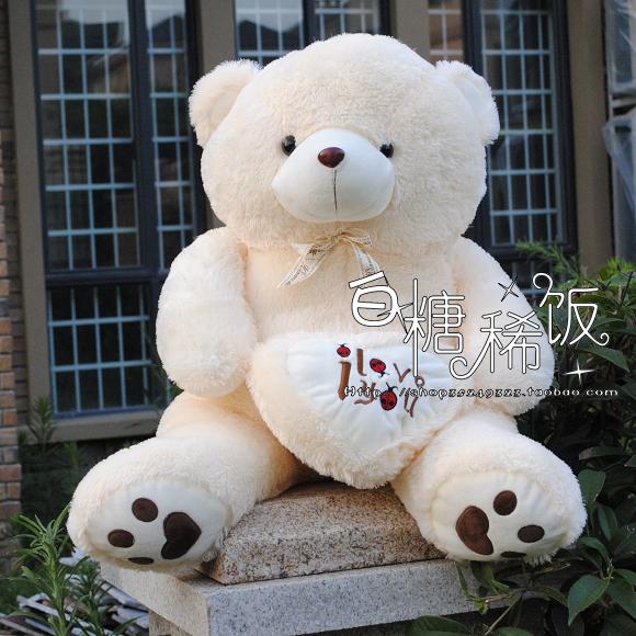 "Фотография large 90 cm  "" i love you "" teddy bear plush toy lovely bear doll throw pillow gift w4749"