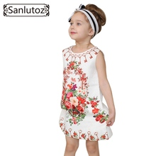 Girl Dress Flower Kids Clothes 2016 Children Clothing Brand Girls Clothes for Party Holiday Toddler