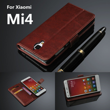 Xiaomi 4 Mi4 card holder cover case for Xiaomi Mi4 M4 Pu leather phone case ultra thin wallet flip cover(China (Mainland))
