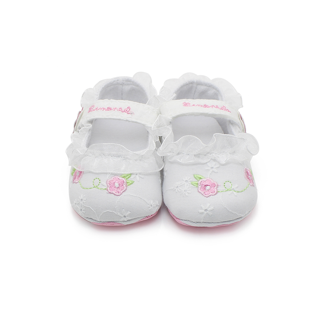 Pink Embroidered Newborn Baby Shoes Infant Toddler Slip-on Baby Girl Shoes For Spring/Autumn First Walkers Lower Price(China (Mainland))