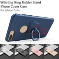 3D 360 Whirling Ring Holder Stand Phone Cases Cute Bear Slim Hard PC Cover Case For