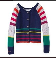 Catimini   Free Shipping 2014 autumn Catimini girl printed long sleeve knitwear  cotton tee children's puff sleeve sweater(China (Mainland))
