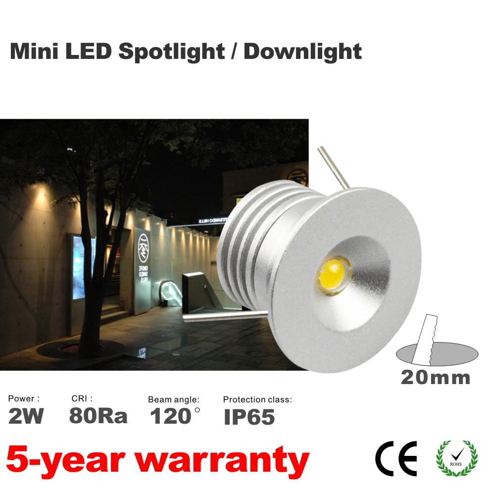 24 pcs 2w  led recessed cabinet light / caravan led lighting/led cabinet spot light  20mm 3-3.4V/300-430mA<br><br>Aliexpress