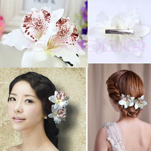 1PC Womens Wedding Bridal Orchid Flower Leopard Hair Clip Barrette Hair Dress HotОдежда и ак�е��уары<br><br><br>Aliexpress