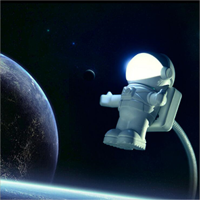 2016 Creative USB Led Lights Novelty Space Man USB Keyboard Lamp Astronaut Night Light for Laptop/PC USB Port Portable Led Light(China (Mainland))