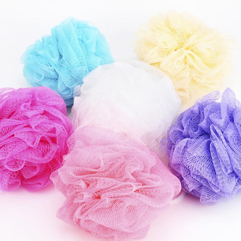 1pcs Bath Shower Set Mesh Net Scrub Body Strap Exfoliate Puff Sponge Loofah Flower Lace Ball