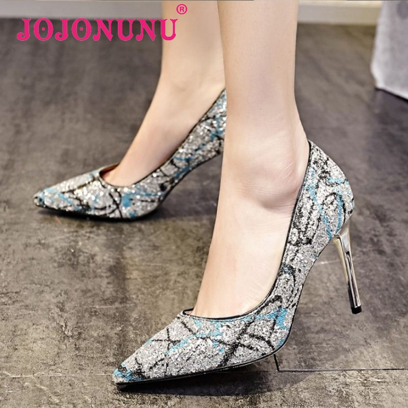 women real genuine leather high heel shoes sexy print lady party pumps pointed toe heeled footwear heels shoes size 34-39 R08622<br><br>Aliexpress