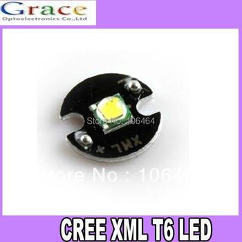 5pcs New Cree XLamp XML T6 10W LED White Color led Emitter with 16mm Round Heatsink For Flashlight  DIY
