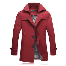 plus size M-5XL 6XL 2015 fashion mens trench single breasted coat for men casaco masculino manteau homme jacket mens overcoat(China (Mainland))