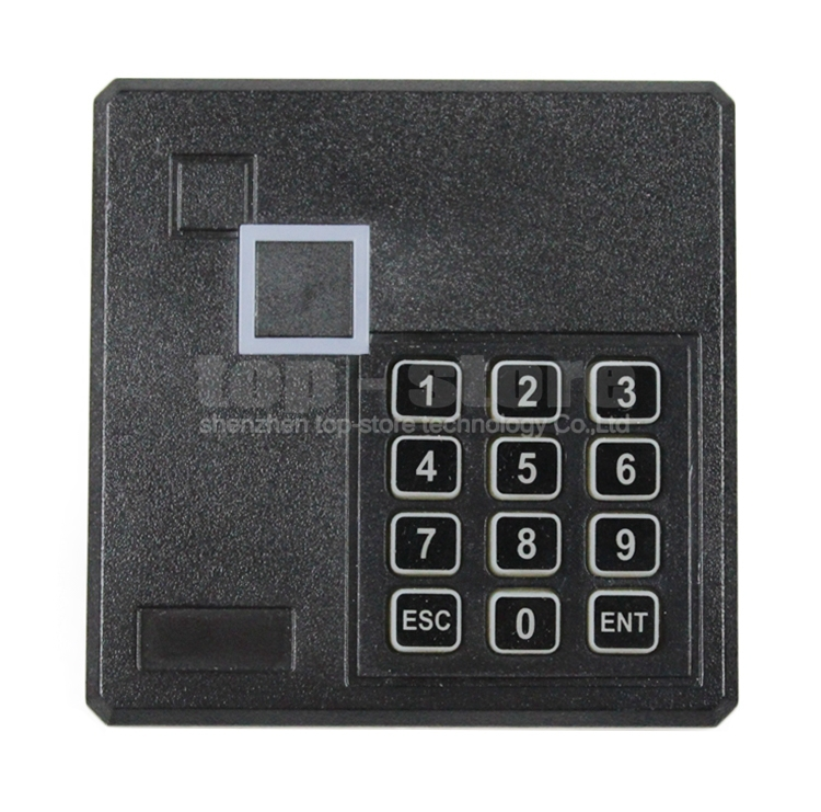 Black Waterproof 125KHz ID Card EM4100 Reader Wiegand 26 Access Control Keypad RFID Reader 103A(China (Mainland))