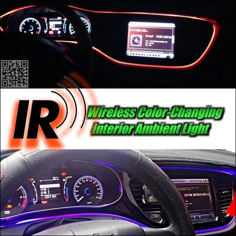 Wireless IR Control Car Interior Ambient 16 Color changing Light DIY Dashboard Light For Mercedes Benz M MB W163 W164 W166(China (Mainland))