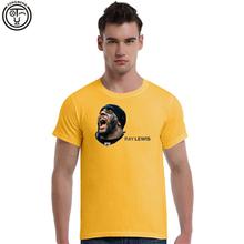 Top Quality Tee Shirt Raymond Ray Lewis American FootballSummer Men's Cotton Short Sleeve T-shirt Fashion O-neck Casual 3D print(China (Mainland))