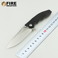 BMT Ball Bearings 0562 CF Flipper Tactical Survival Folding Knife D2 Blade G10 Titanizing steel handle