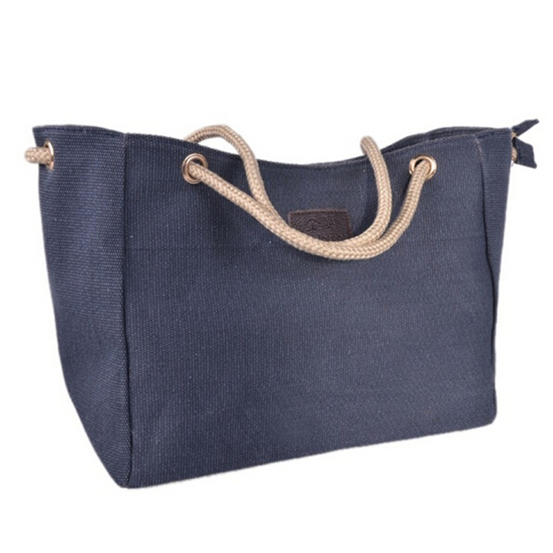Women Handbag Canvas Casual Beach Bag Female Shoulder Bag Tote Shopping Big Bag Canta Bolsas Feminina Sac A Main Femme De Marque(China (Mainland))