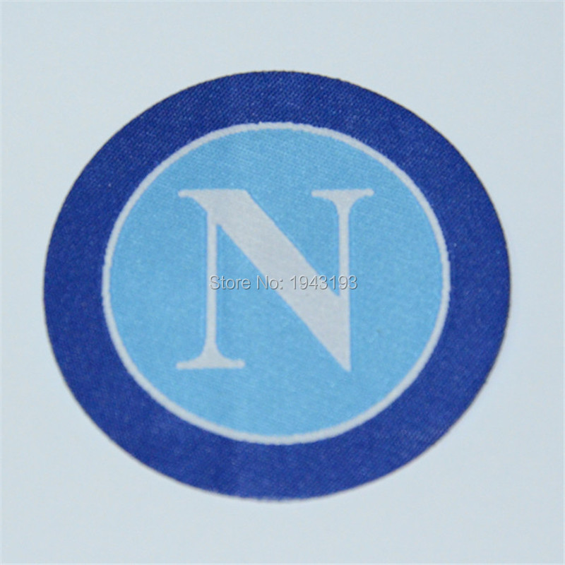 50PCS/lot patch badge Iron on for clothing / Italy embroidered appliques football badges logo soccer club Napoli Patches(China (Mainland))