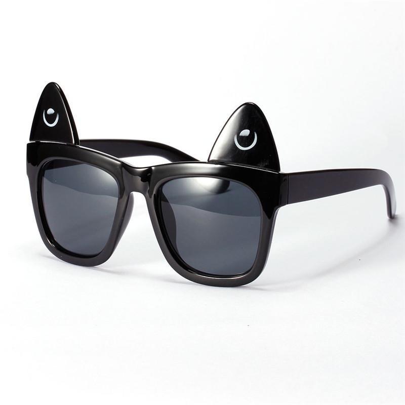 Detachable Cat Ear Sunglasses Women Uv Glasses Fashion Colorful Reflective Film Anti-Dazzle Glasses Oculos De Sol Feminino(China (Mainland))