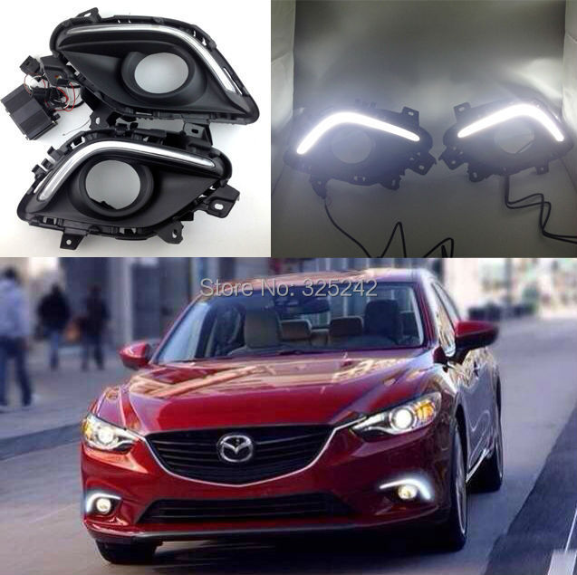 For Mazda Atenza 3rd generation 2012-up Mazda 6 Excellent CREE High Power Fiber Optcis Led Daytime Running Light DRL led light(China (Mainland))
