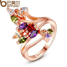 Buy BAMOER High Gold Color Finger Ring Women Party AAA Colorful Cubic Zircon Famous Brand Jewelry JIR048 for $3.59 in AliExpress store