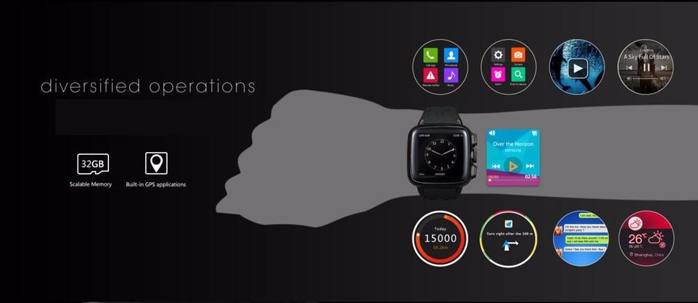 ถูก MTK6572A android 4.4อัตราการเต้นหัวใจสมาร์ทโทรศัพท์นาฬิกาด้วยจอแสดงผลแบบสัมผัสและgps wifiกล้องดีเอชแอจัดส่งฟรี
