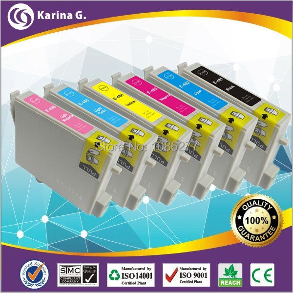 18 PK Good Quality Ink Cartridges for T0481-T0486,Compatible For Stylus Photo R200,R220,R300,R300M,R320,R340,RX500,RX600,RX620<br><br>Aliexpress