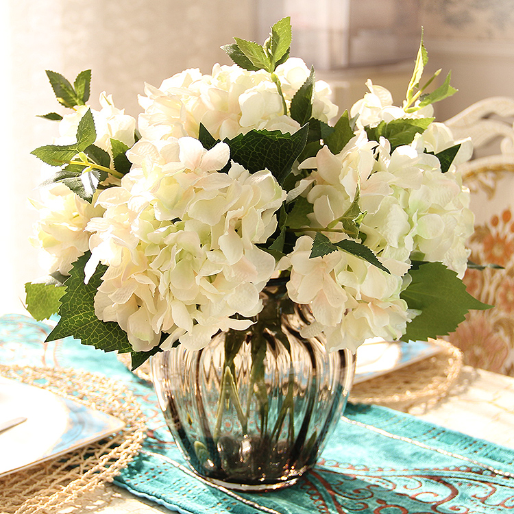 Large hydrangea quality artificial flowers set decoration for Artificial flower decoration mandap