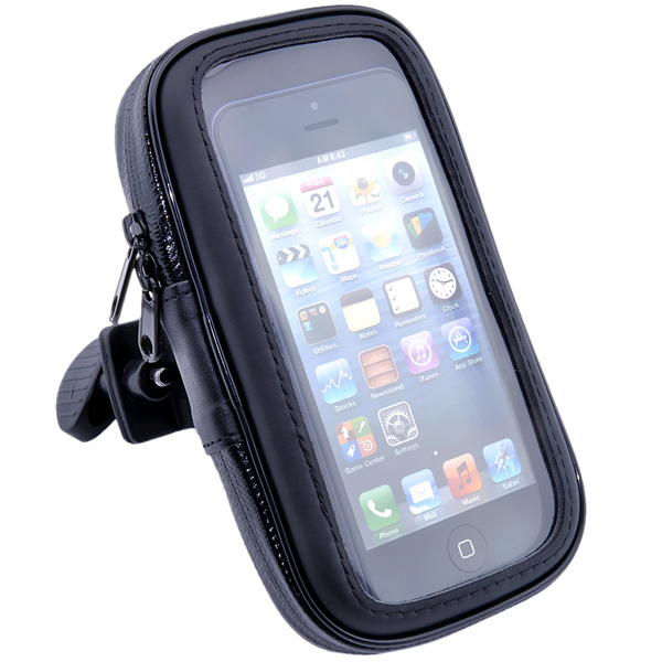 For iphone 5S 4G 4S 5G Cell Phone WaterProof Motorcycle Bike Handlebar Mount Case Cover Pouch free shipping(China (Mainland))