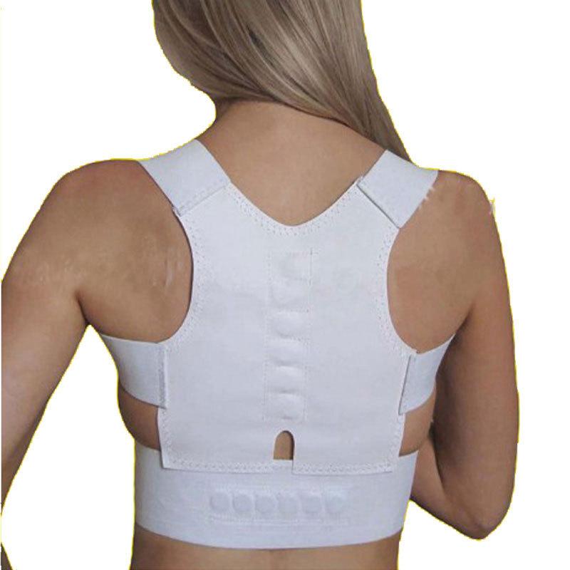 1pcs Fully Adjustable Magnetic Therapy Posture Back Shoulder Corrector Support Brace Belt(China (Mainland))