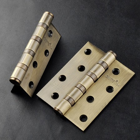 Gute 4 inch Thickness 3mm Green bronze Door Hinge 1 Pair and Install Screws Free Shipping(China (Mainland))