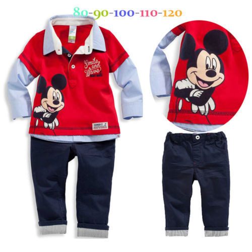 2pcs Kids Baby Boy Infant T-shirt Top+Short pants Outfit set Clothes gentleman Sets
