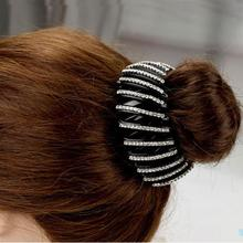 Beautiful Crystal Rhinestone Ponytail Hair Ornaments Bud Hair Clip Hairpin Women Fashion Hair Accessories(China (Mainland))