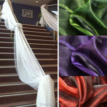 500CM*135CM Sheer Organza table swags Wedding for event party decoration Decoration Wholesale Retail(China (Mainland))
