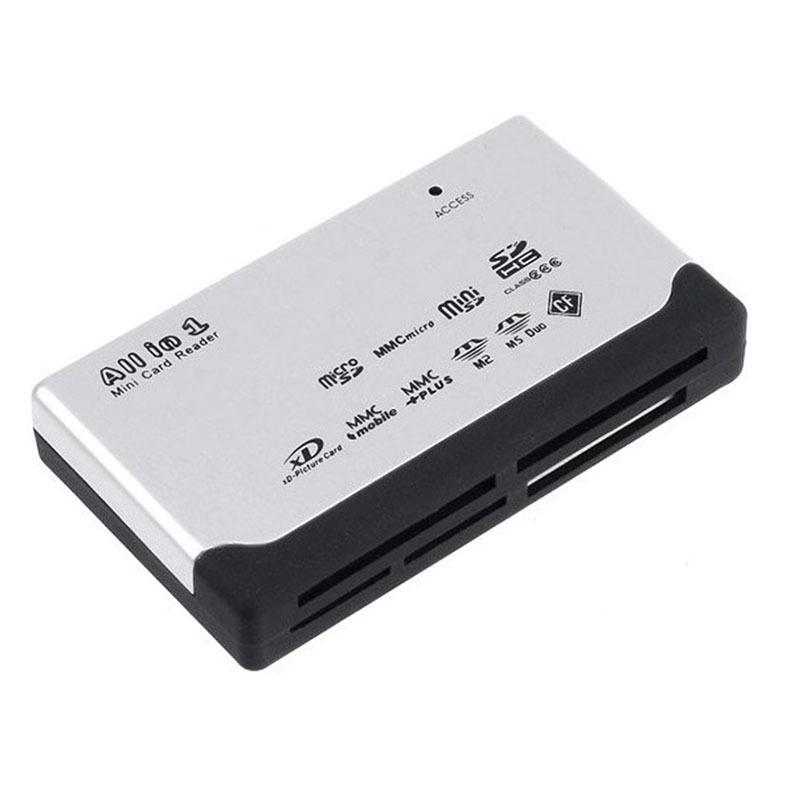 20PCS USB 2 0 All in 1 Multi Card Reader SD XD MMC MS CF SDHC