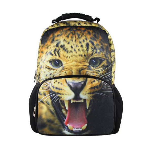 Large Design Children Animal Zoo School Bag Boys Girls Cool Leopard Dog Lion Pinting School Bag for Kids Fashion Mens Sport Bag<br><br>Aliexpress