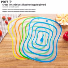 Buy 4Pcs Food Grade Plastic PP Chopping Block Cutting Board Flexible Non-slip Breadboard Frosted Antibacteria Cutting Panel for $2.98 in AliExpress store